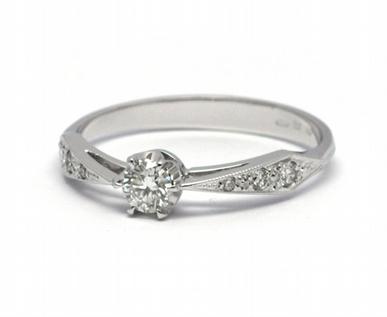 Luxusní zásnubní diamantový prsten přírodní diamant 585/1,74 gr J-21025-12