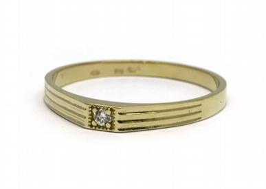 Luxusní zásnubní prsten s přírodními diamanty 585/1,52 gr J-20618-11 (J-20618-11)