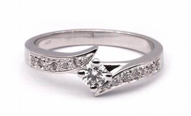 Zásnubní diamantový prsten s přírodními diamanty 585/3,41 gr J-20113-11