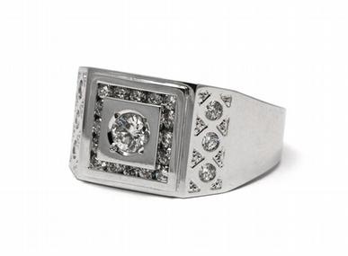 Pánský diamantový luxusní mohutný prsten 585/9,53 gr J-20398-11