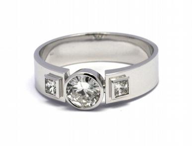 Pánský diamantový luxusní mohutný prsten 585/7,52 gr J-20950-12