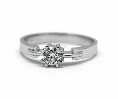 Zásnubní luxsní prsten s přírodním diamantem 585/2,78 gr J-22232-13 (J-22232-13)
