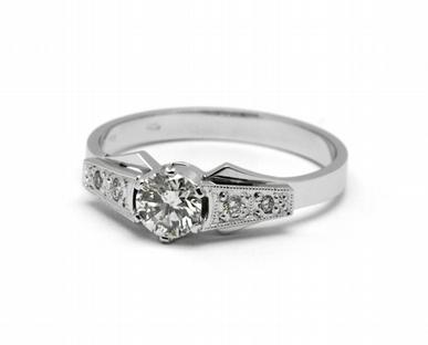 Zásnubní diamantový prsten s přírodními diamanty 585/2,52 gr J-21603-12