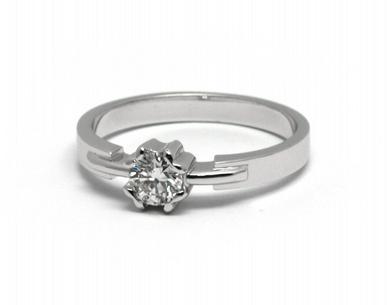 Zásnubní diamantový prsten s přírodními diamanty 585/2,76 gr J-21606-12 (J-21606-12)