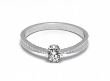 Zásnubní diamantový prsten s přírodním diamantem 585/1,69 gr J-21620-12 (21620-12)