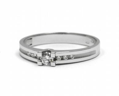 Zásnubní diamantový prsten s přírodním diamantem 585/1,96 gr J-21534-12