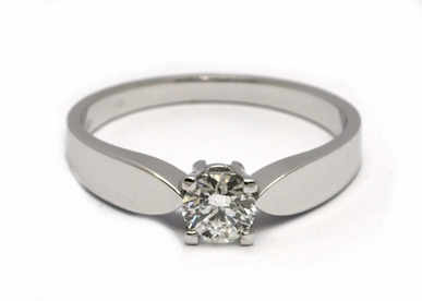 Zásnubní diamantový prsten s přírodním diamantem 585/2,66 gr J-21604-12
