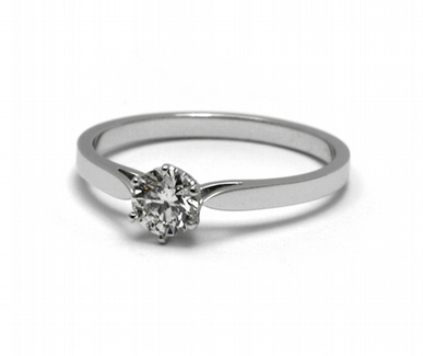 Zásnubní luxusní prsten s přírodním diamantem 585/1,85 gr J-21605-12 (J-21605-12)