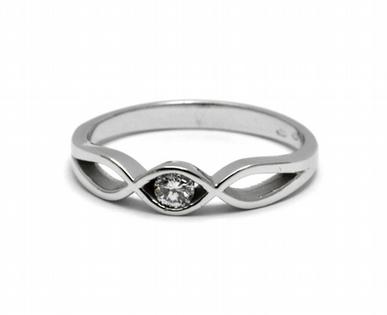 Zásnubní luxusní prsten s přírodním diamantem 585/2,27 gr J-21533-12 (J-21533-12)