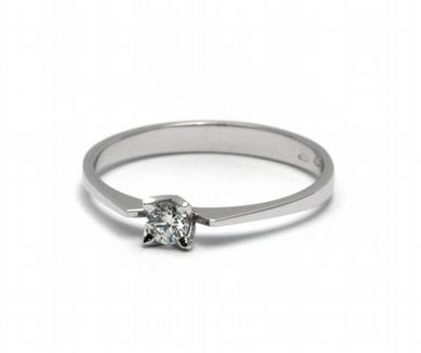 Dámský zásnubní prsten s přírodním diamantem 585/1,31 gr J-21535-12 (J-21535-12)