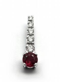 Diamantový zlatý přívěsek s rubíny a diamanty 585/0,85 gr J-21057-12 (J-21057-12)