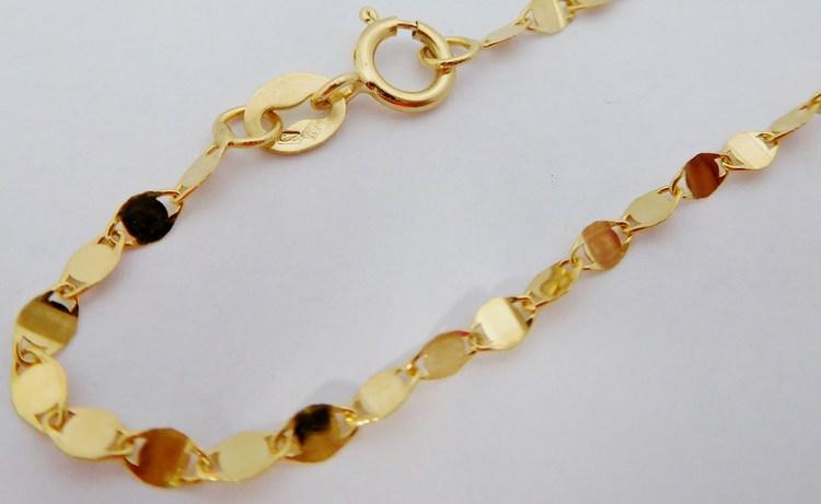 d6c042bc9 Dámský silnější zlatý náramek na ruku 585/0,63gr 18cm H424 ...