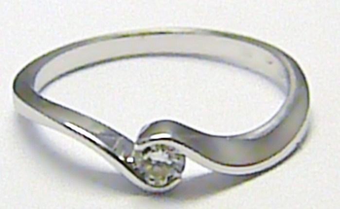Zlatý zásnubní prsten s přírodním diamantem 585/1,72 gr vel. 54 SKLADEM!! D001