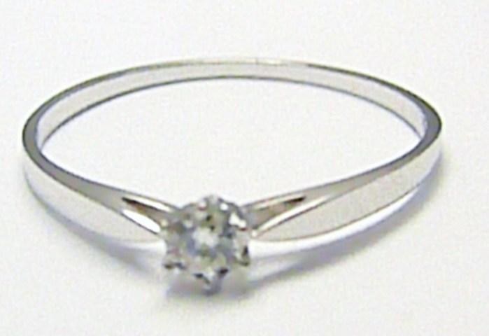 Zlatý zásnubní prsten s přírodním diamantem 585/1,00 gr vel. 58 D002