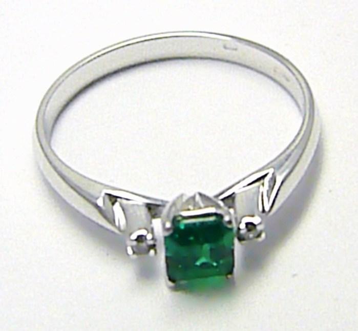 Diamantový mohutný zásnubní prsten se smaragdem 585/2,03g vel. 56 SKLADEM!! D005 (J-24577-14)