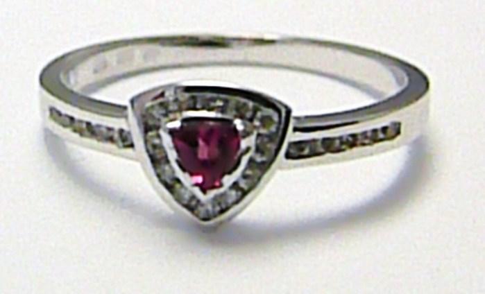 Diamantový mohutný zásnubní prsten se turmalínem 585/1,67g vel.53 SKLADEM!! D006 (J-24573-14)
