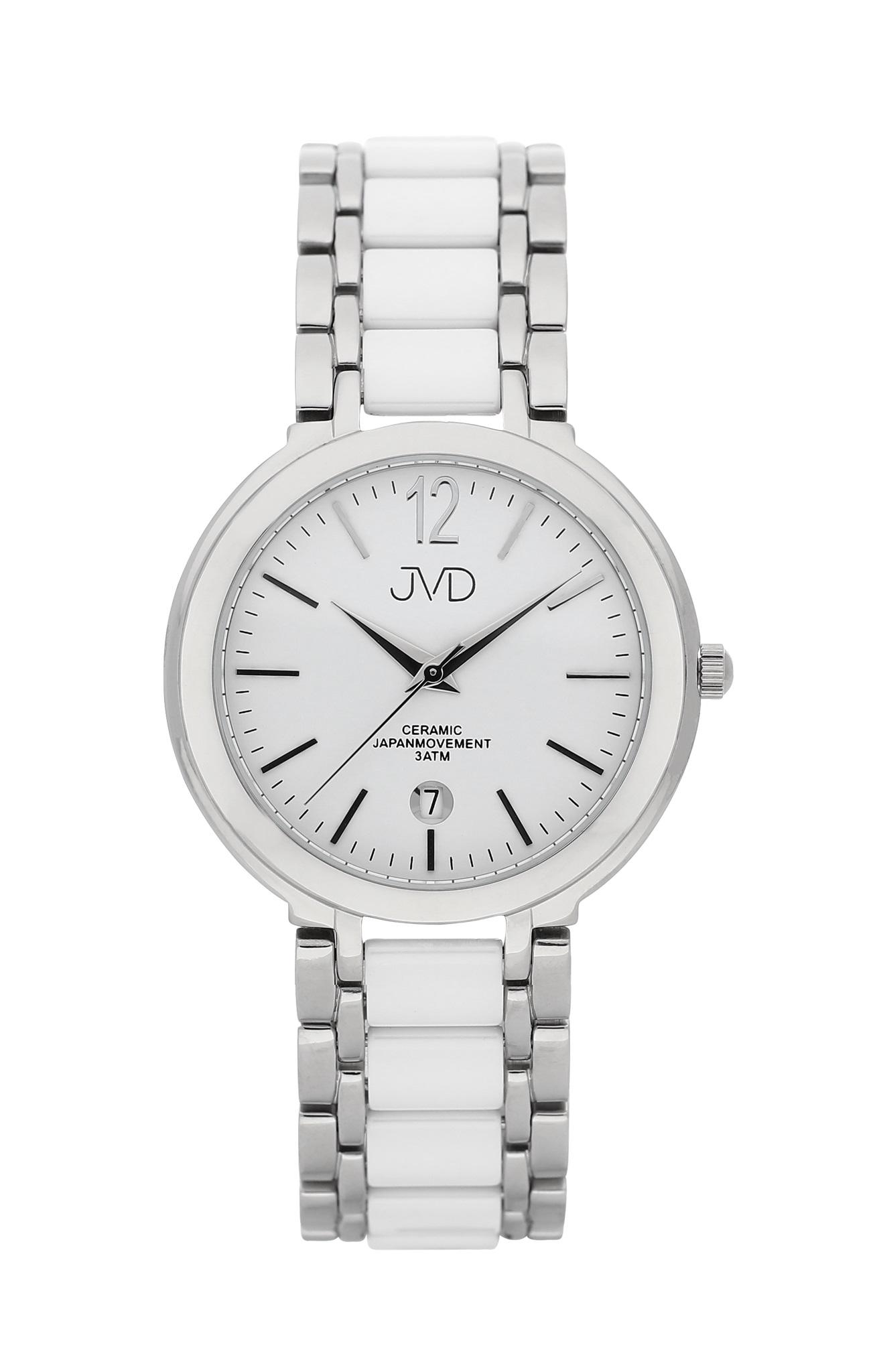 Luxusní keramické dámské náramkové hodinky JVD chronograph J1104.1
