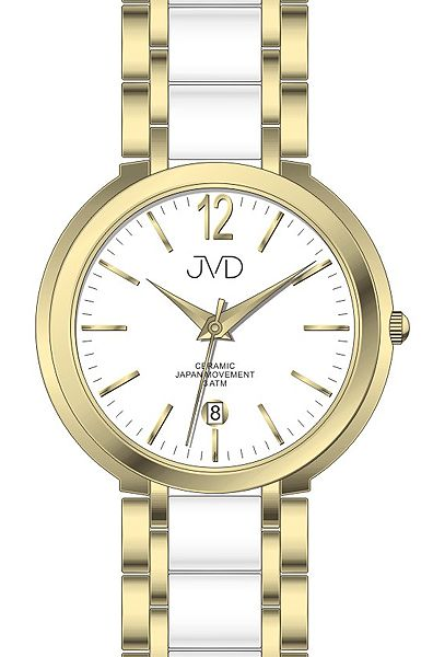 Luxusní keramické dámské náramkové hodinky JVD chronograph J1104.2