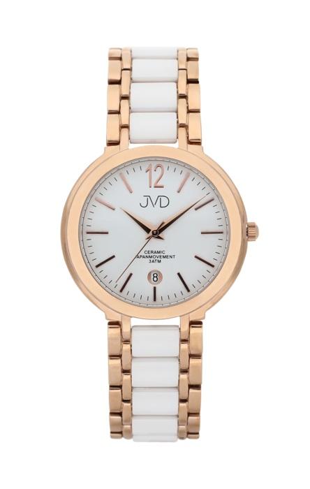 Luxusní keramické dámské náramkové hodinky JVD chronograph J1104.3