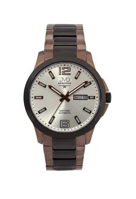 Samonatahovací automaty pánské chronografy hodinky JVD seplane JS29.5 se safírem