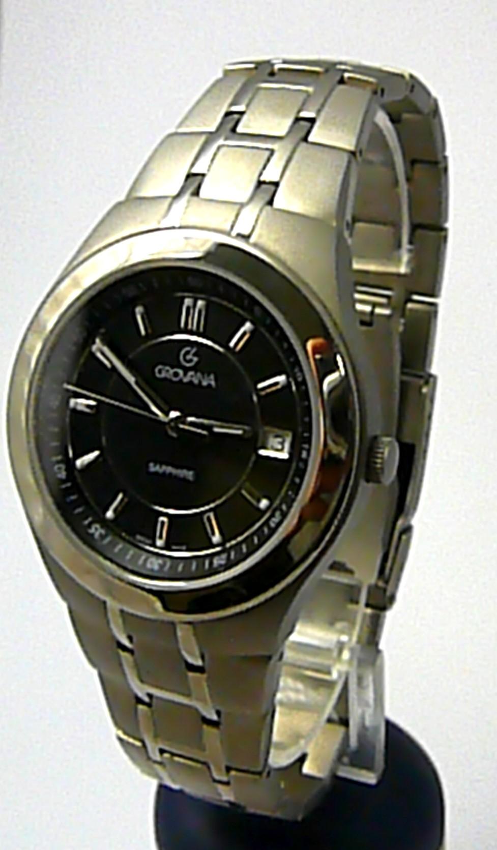 Pánské švýcarské celotitanové hodinky Grovana 1535.1197 - 5ATM safírové sklo (POŠTOVNÉ ZDARMA)