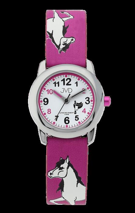 Dětské dívčí hodinky JVD J7150.2 s motivem koně a podkovami pro štěstí