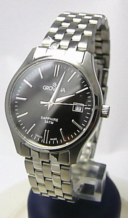 Dámské švýcarské stříbrné hodinky Grovana 5568.1137 se safírovým sklem