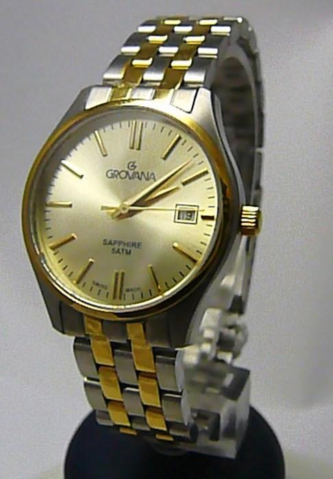 Dámské švýcarské luxusní hodinky Grovana 5568.1141 se safírovým nepoškr. sklem