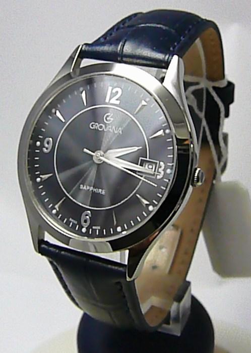 Pánské švýcarské luxusní hodinky Grovana 1206.1135 se safírovým nepoškr. sklem