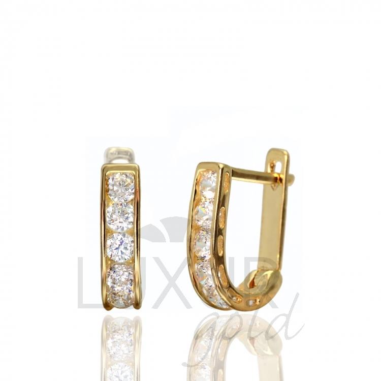 Zlaté náušnice ze žlutého zlata se zirkony 2230163 P414 (2230163)