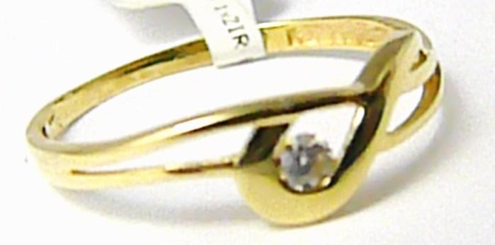 Dámský zlatý prsten se zirkonem vel.57 585/0,97 gr P409