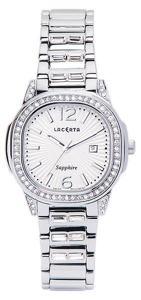 Dámské švýcarské značkové luxusní hodinky Lacerta LC201 se safírovým sklem