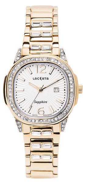 Dámské švýcarské značkové luxusní hodinky Lacerta LC203 se safírovým sklem