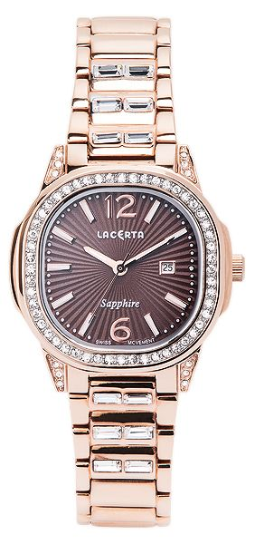 Dámské švýcarské značkové luxusní hodinky Lacerta LC204 se safírovým sklem
