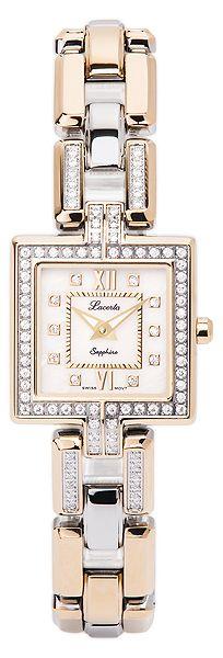 Značkové švýcarské dámské hodinky Lacerta 751 M8 591 s nepoškrabatelným sklem