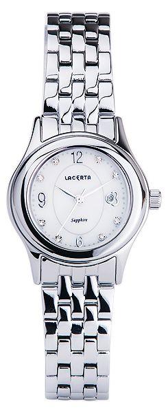 Značkové švýcarské dámské hodinky Lacerta LC401 s nepoškrabatelným sklem
