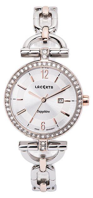 Dámské švýcarské šperkové luxusní hodinky Lacerta LC302 - safírové sklo
