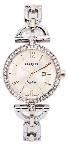Dámské švýcarské šperkové luxusní hodinky Lacerta LC303 - safírové sklo