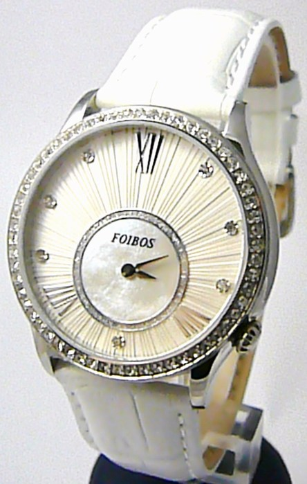 Dámské luxusní bílé hodinky Foibos 1x70 s římskými číslicemi