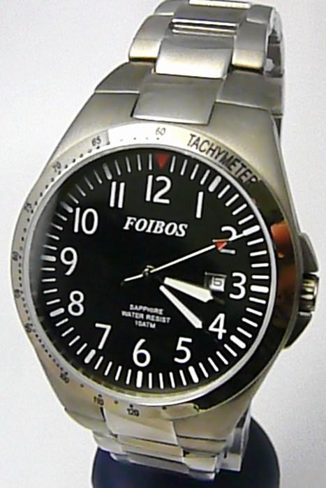 Luxusní pánské titanové antialergické čitelné hodinky Foibos 2358 - 10ATM