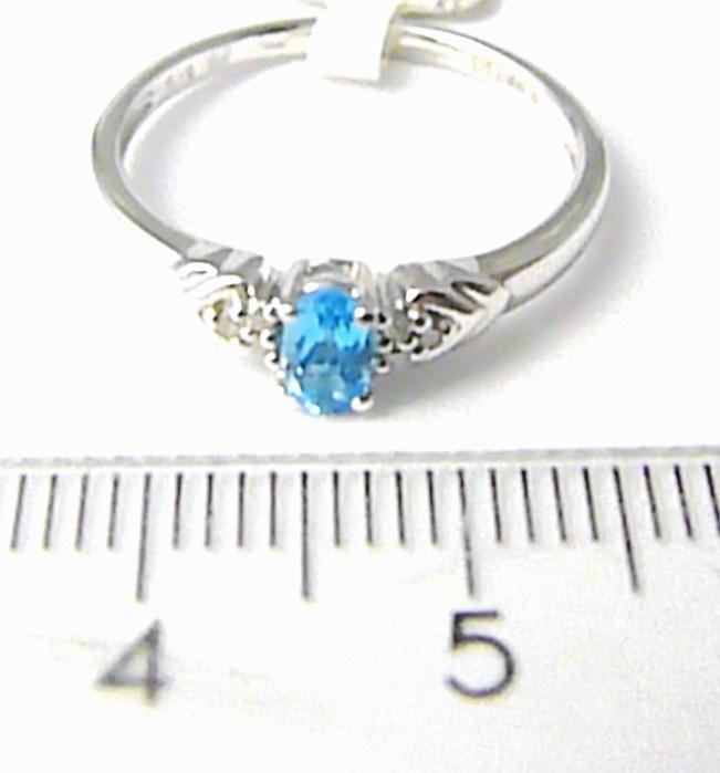 Zásnubní diamantový prsten s blue topaz 0,30ct, 6ks diamantů vel.56P443 SKLADEM