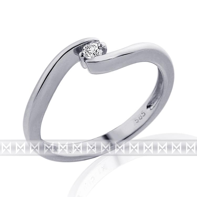 Zásnubní diamantový prsten s diamantem 1ks 0,05ct vel.57 P444 SKLADEM