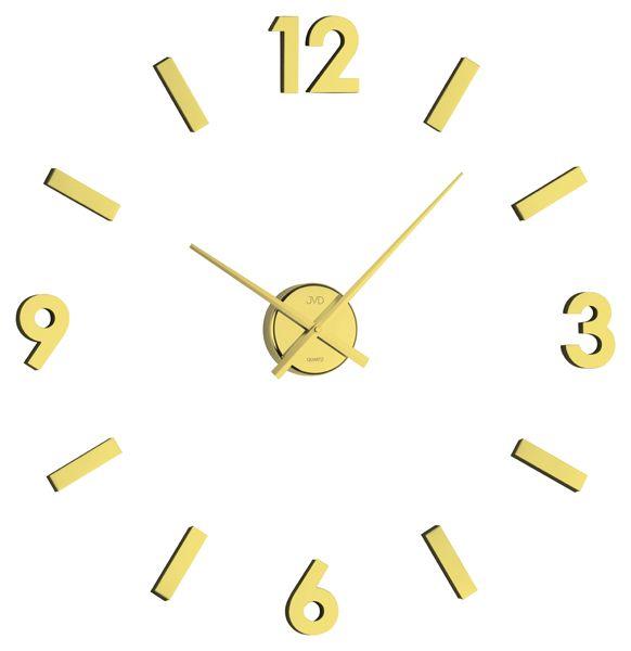 Exkluzivní zlaté nalepovací hodiny JVD HB11.1 NOVINKA 2015!! na zeď