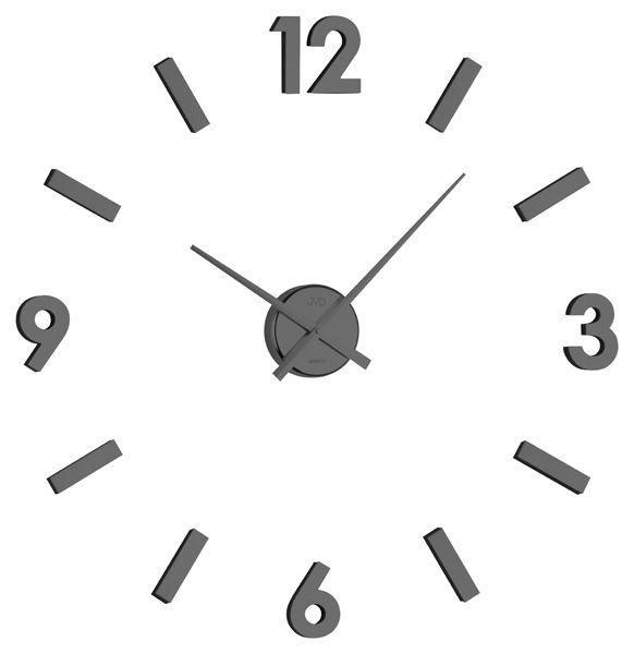 Exkluzivní černé nalepovací hodiny JVD HB11.2 NOVINKA 2015!! na zeď ( )