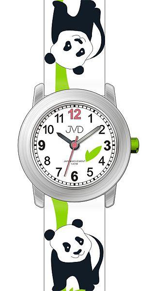 Dětské barevné hodinky JVD J7160.1 s motivem PANDY pro kluky a holky