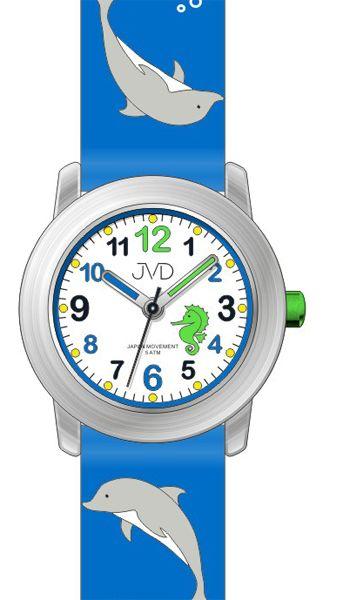 Dětské barevné hodinky JVD J7159.1 s motivem DELFÍNA pro kluky a holky