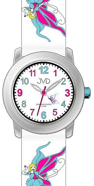 Dětské dívčí hodinky JVD J7161.1 pro holky s motivem pohádkové víly
