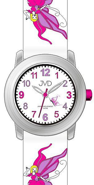 Dětské dívčí hodinky JVD J7161.2 pro holky s motivem pohádkové víly