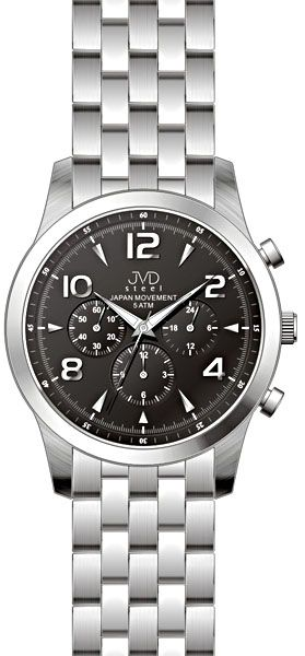 Luxusní pánské chronografy - hodinky JVD steel J1051.2 s japonským strojem SEIKO
