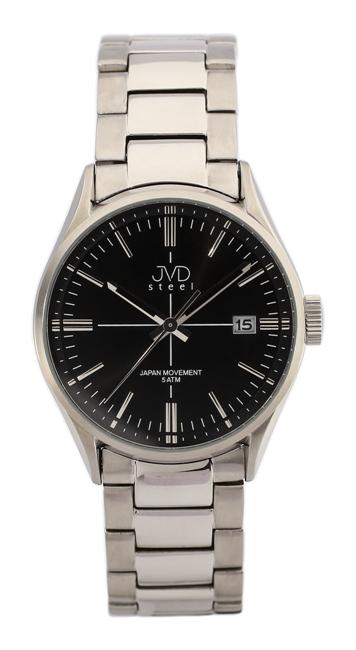 Pánské náramkové hodinky JVD steel J1057.1 s datumovkou